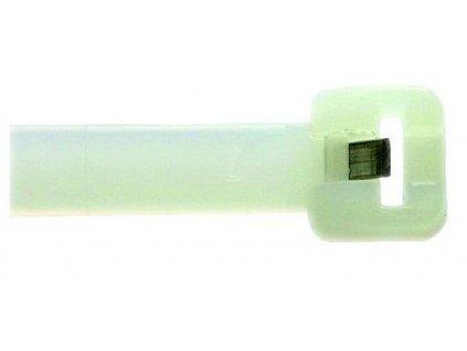 PROTEC Pásek vázací 360x7,5 ocelová spona přírodní (50ks)