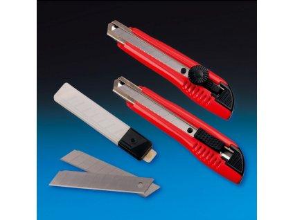 DEN BRAVEN Nůž odlamovací 18mm aretace šroubem