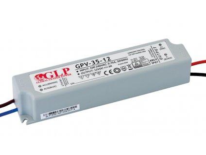 DELTA Napaječ LED 12V 35W GPV nestmívatelný IP67