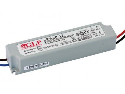 DELTA Napaječ LED 12V 20W GPV nestmívatelný IP67