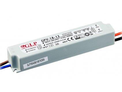 DELTA Napaječ LED 12V 18W GPV nestmívatelný IP67