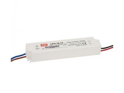 MEANWELL Napaječ LED 12V 18W LPH nestmívatelný IP65