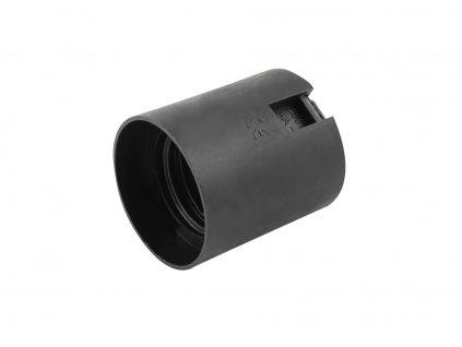 ELEMAN Objímka plastová 80 (1351-13000) E27 černá, hladká, bez čepičky
