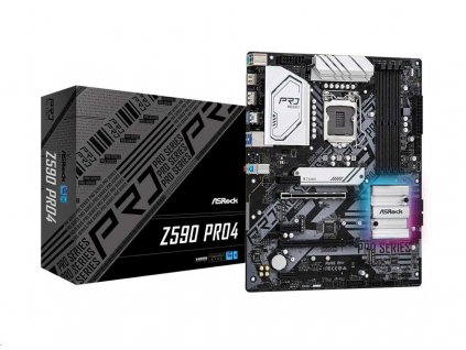 ASRock MB Sc LGA1200 Z590 PRO4, Intel Z590, 4xDDR4, 1xDP, 1xHDMI