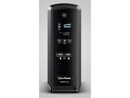 CyberPower PFC SineWare LCD GP UPS 1500VA/900W, Schuko zásuvky