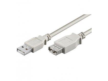 PremiumCord USB 2.0 kabel prodlužovací, A-A, 20cm
