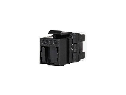 MULTIPACK 24 ks - rychlozařezávací keystone Solarix CAT6 UTP RJ45 černý pro kleště