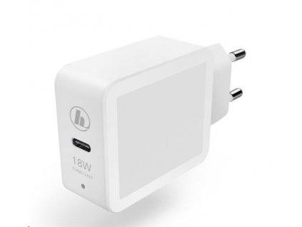 Hama rýchla USB nabíjačka, USB-C, Quick Charge 3.0 / Power Delivery, 18 W, biela