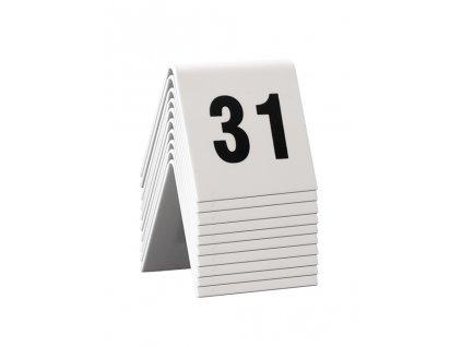 Rozlišovací tabulka Securit TABLE SIGNS čísla 31-40, 10ks