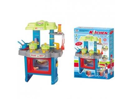 Hračka G21 Dětská kuchyňka DELICACY s příslušenstvím, modrá