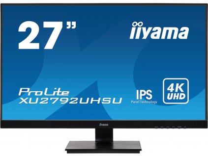 27'' iiyama XU2792UHSU-B1: IPS, 4K, 300cd/m2, 4ms, HDMI, DP, DVI, USB, černý