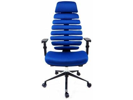 kancelářská židle FISH BONES PDH černý plast,modrá látka TW10