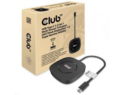 Club3D Video hub MST (Multi Stream Transport) USB-C 3.2 na 3x DisplayPort 1.4 4K60Hz