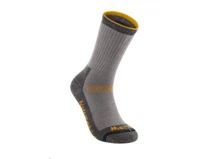 Naturehike sportovní merino ponožky vel. 40-43 - šedo-oranžové