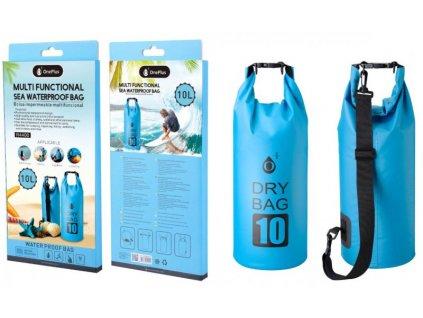 Vodotěsný vak PLUS R4400,10L, modrý