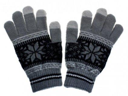 Rukavice na dotykový displej NORDIC grey