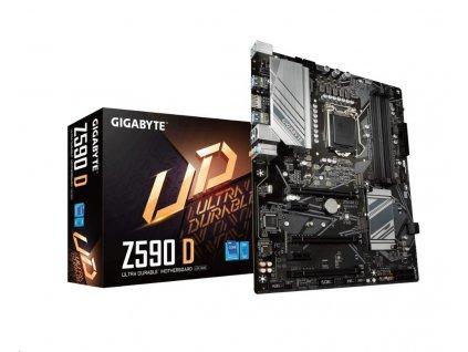 GIGABYTE MB Sc LGA1200 Z590 D, Intel Z590, 4xDDR4, 1xDP