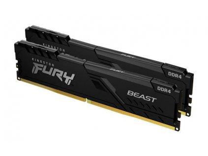 KINGSTON 8GB 2666MHz DDR4 CL16 DIMM (Kit of 2) FURY Beast Black