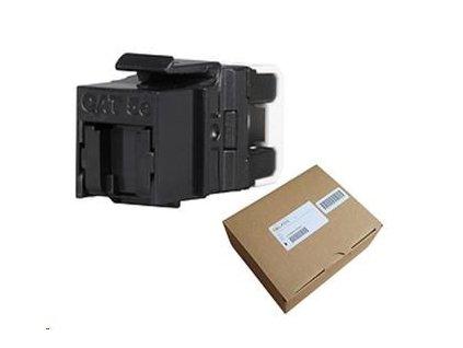Solarix MULTIPACK 24 ks - rychlozařezávací keystone CAT5E UTP RJ45 černý SXKJ-5E-UTP-BK-NA