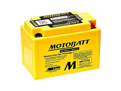 Baterie Motobatt MBTZ14S pro motocykly (11,2Ah, 12V, 4 vývody)