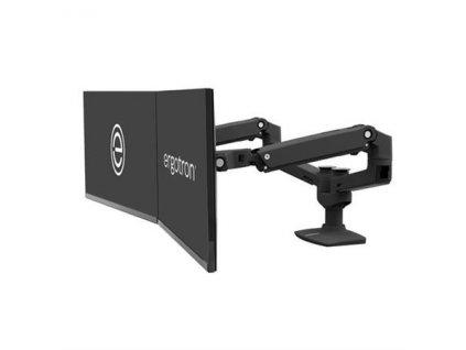 """ERGOTRON LX Dual Side-by-Side Arm (matte black), stolní ramena pro 2 lcd. max. 27"""", flexibilní , černé"""