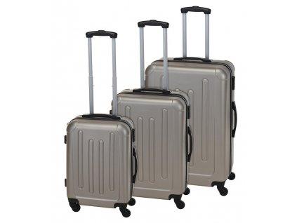 Kufr cestovní na kolečkách sada 3 ks EXPLORER šampaň