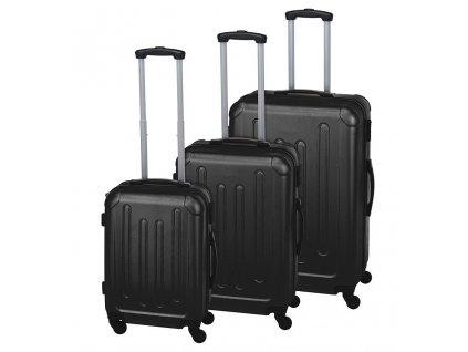 Kufr cestovní na kolečkách sada 3 ks EXPLORER černá