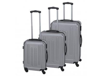 Kufr cestovní na kolečkách sada 3 ks EXPLORER stříbrná