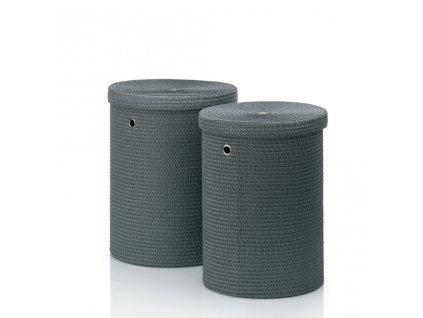 Prádelní koš RIMOSSA PP plastic, šedá O42cm x v52cm KELA KL-22982_3002828