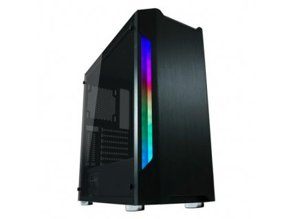 LC-POWER case Gaming 701B Badge_X Midi Tower, window, černá