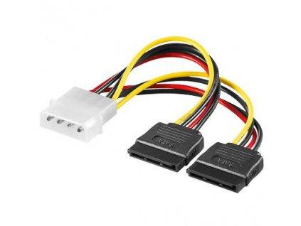 PremiumCord Napájecí adaptér kabelový 5,25'' na 2x S-ATA