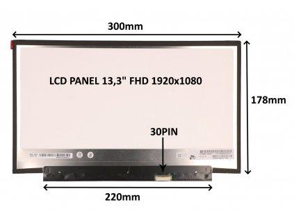 LCD PANEL 13,3'' FHD 1920x1080 30PIN MATNÝ / BEZ ÚCHYTŮ