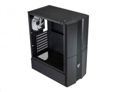 Fortron skříň Midi Tower CMT270 Black, průhledná bočnice, 1 x A. RGB LED 120 mm ventilátor