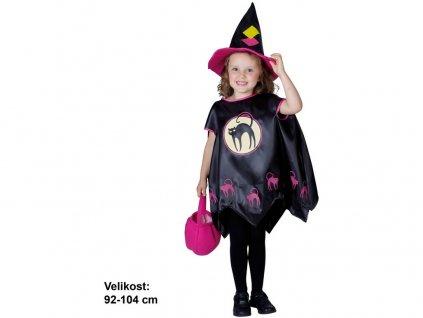 Karnevalový kostým Čarodějnice, 92-104 cm