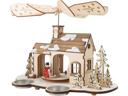 Vánoční dekorace Small Foot dřevěná pyramida Advent