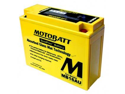 Baterie Motobatt MB16AU pro motocykly (20,5Ah, 12V, 2 vývody)
