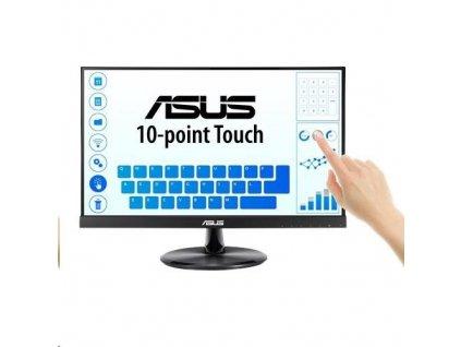 "ASUS LCD dotekový display 21.5"" VT229H Touch 1920x1080, lesklý, D-SUB, HDMI, 10-point Touch, IPS, Frameless, USB"