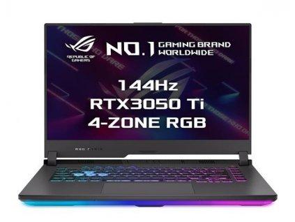 "ASUS ROG Strix G15 G513QE-HN032T R5-5600H/8GB/512GB SSD/RTX3050Ti/15,6"" FHD/IPS/144Hz/2roky Pick-up & Return/Win10/šedý"