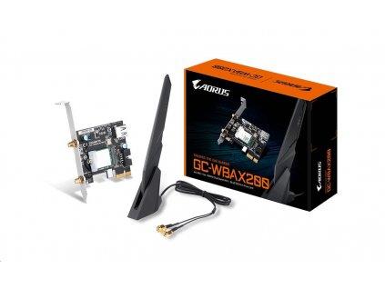 GIGABYTE GC-WBAX200, WiFi 802.11ax, Bluetooth 5.0, PCIe, Dual Band, 2400Mbps