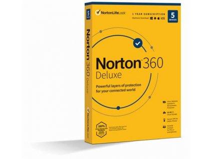 NORTON 360 DELUXE 50GB CZ 1uživatel pro 5 zařízení na 1rok_SK box