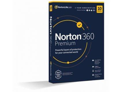 NORTON 360 PREMIUM 75GB CZ 1 uživatel pro 10 zařízení na 1rok_SK box