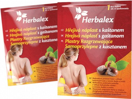Herbalex Hřejivé náplati s kaštanem 4ks