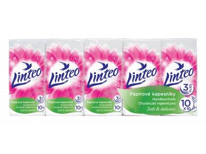 Kapesníčky Linteo 3-vrstvé bílé, 10x10ks