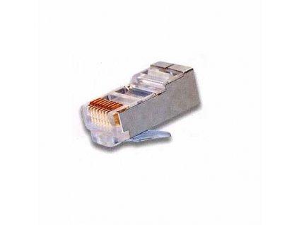 Konektor RJ45 FTP 8p8c, Cat 5e, drát, 50 micronů