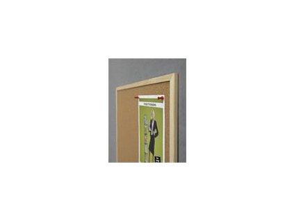 Nástěnka CLASSIC Cork Board Eco 60x90cm, korek, dřevěný rám