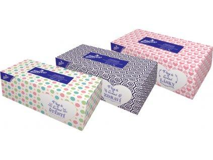 Kapesníčky Linteo BOX 200 ks, bílé, 2-vrstvé