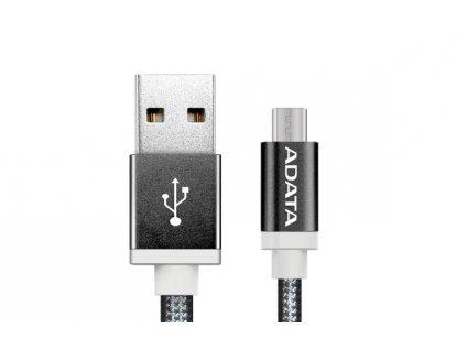 ADATA Micro USB kabel pletený 1m černý