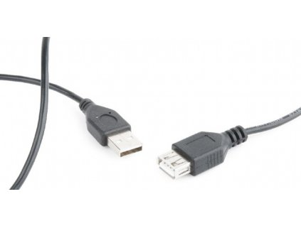 Gembird USB 2.0 extension cable, 0.75 m, black