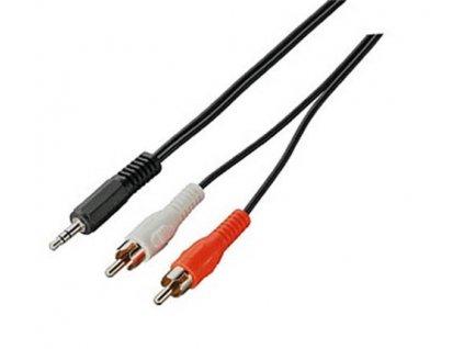 Kabel propojovací Jack 3,5(M) - 2x cinch(M), 10m