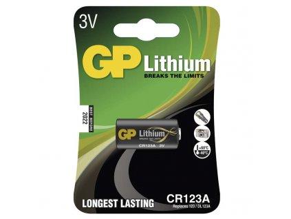 Lithiová baterie GP CR123A - 1ks